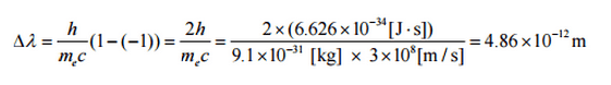 The maximum change in wavelength can be derived from Compton formula. Compton length